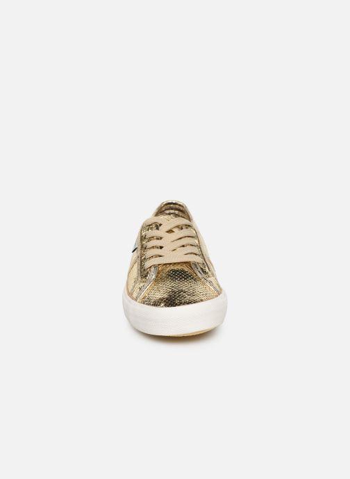 Baskets Pepe jeans Aberlady Luxor Or et bronze vue portées chaussures