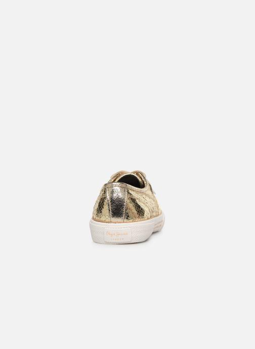 Baskets Pepe jeans Aberlady Luxor Or et bronze vue droite