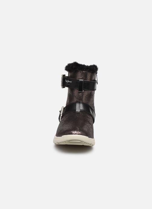 Chaussures de sport Pepe jeans Hyke W Snow Argent vue portées chaussures