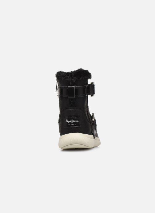 Chaussures de sport Pepe jeans Hyke W Snow Argent vue droite