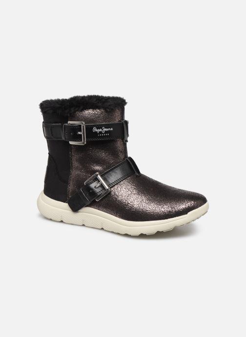 Chaussures de sport Pepe jeans Hyke W Snow Argent vue détail/paire