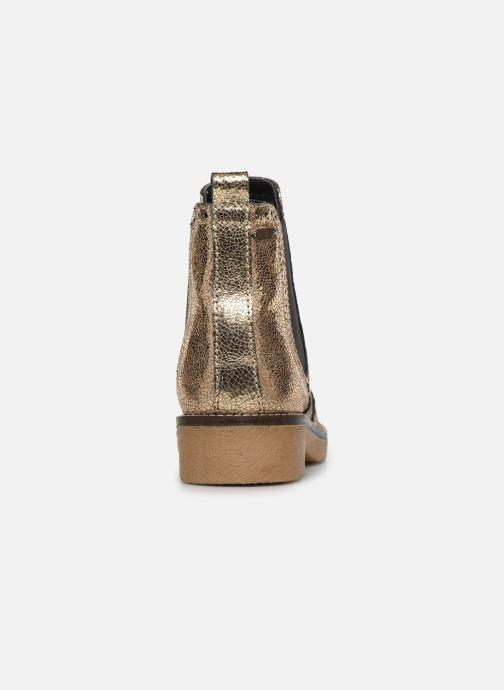 Bottines et boots Pepe jeans Savile Met Or et bronze vue droite