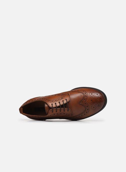 Zapatos con cordones Pepe jeans Hackney Brogue Marrón vista lateral izquierda