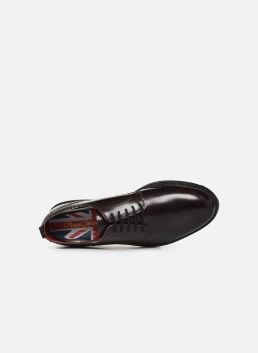 Chaussures à lacets Pepe jeans Derby Mod Bordeaux vue gauche