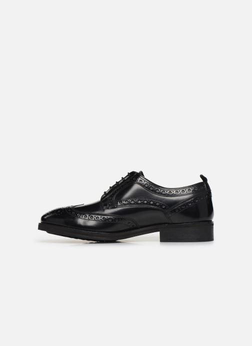 Chaussures à lacets Pepe jeans Hackney Brogue Smooth Noir vue face