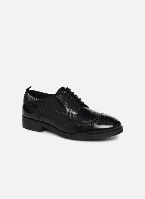 Chaussures à lacets Pepe jeans Hackney Brogue Smooth Noir vue détail/paire