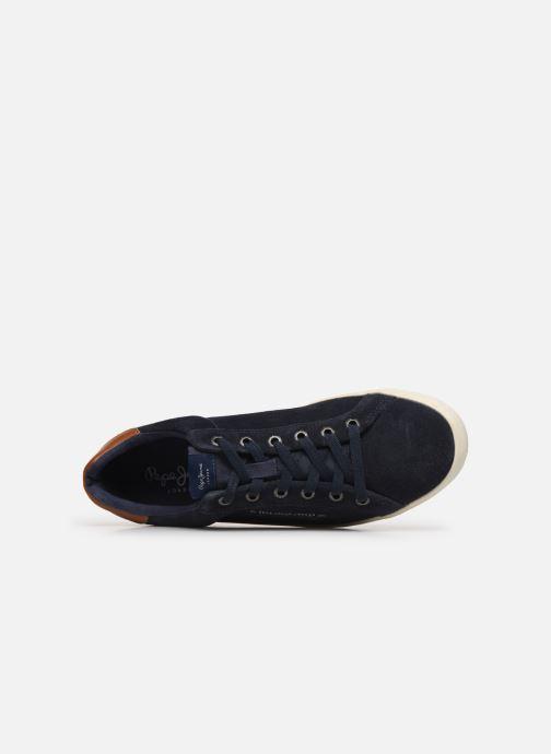 Baskets Pepe jeans North Basic Bleu vue gauche