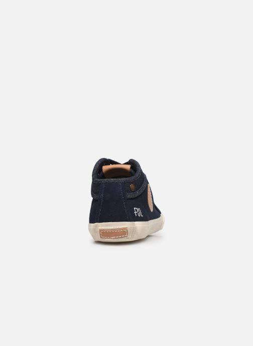Baskets Pepe jeans Industry Soul Bleu vue droite