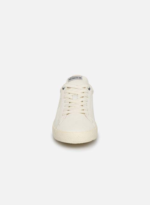 Baskets Pepe jeans Portobello Archive Blanc vue portées chaussures