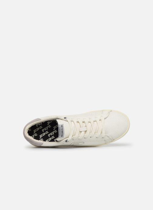 Baskets Pepe jeans Portobello Archive Blanc vue gauche