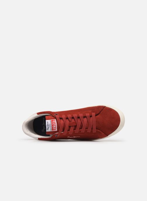 Baskets Pepe jeans Portobello 1973 Rouge vue gauche