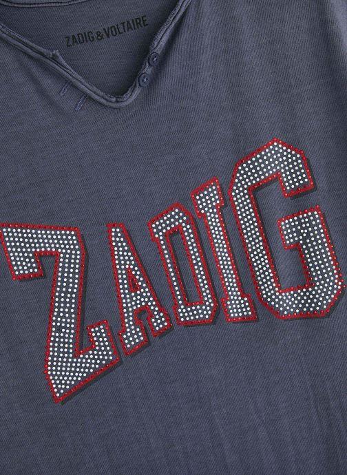 Vêtements Zadig & Voltaire Robe X12109 Bleu vue portées chaussures