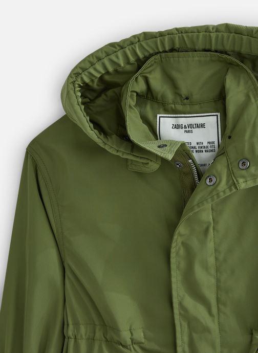 Vêtements Zadig & Voltaire Veste X16042 Vert vue portées chaussures