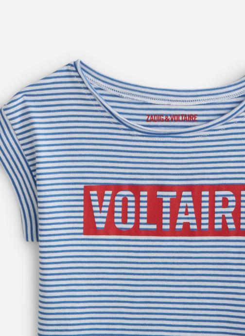 Vêtements Zadig & Voltaire T-shirt  X15202 Bleu vue portées chaussures
