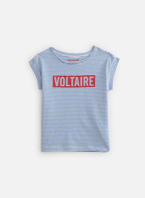 Vêtements Zadig & Voltaire T-shirt  X15202 Bleu vue détail/paire