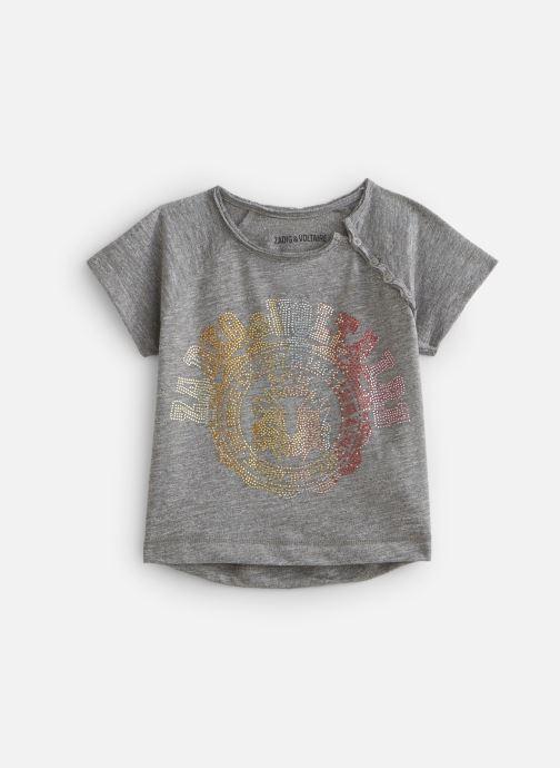 Vêtements Zadig & Voltaire T-shirt X15209 Gris vue détail/paire