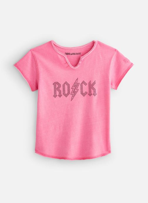 Vêtements Zadig & Voltaire T-shirt X15203 Rose vue détail/paire