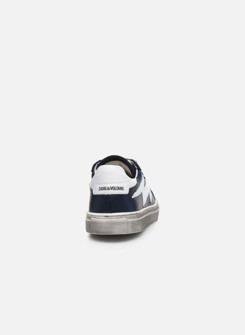 Trainers Zadig & Voltaire X29011 Blue view from the right