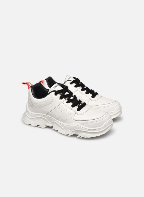 Trainers Zadig & Voltaire X19014 White 3/4 view
