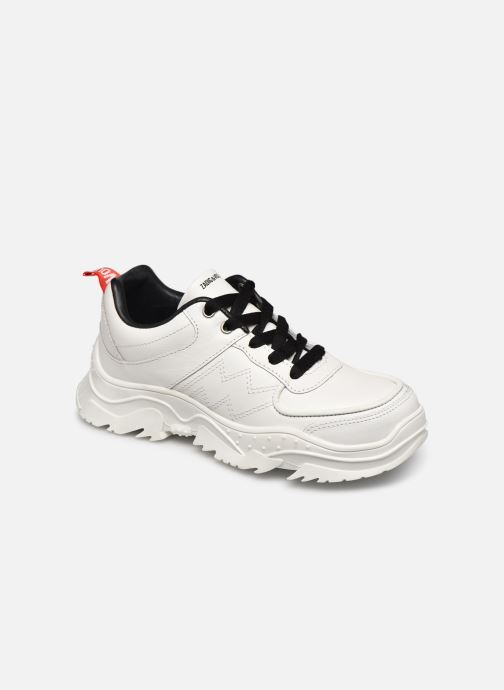 Trainers Zadig & Voltaire X19014 White detailed view/ Pair view