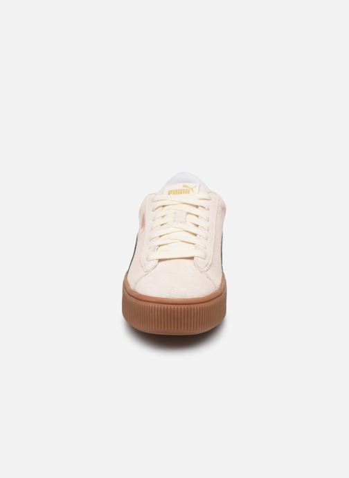 Baskets Puma WNS Vikky STACKD SD Blanc vue portées chaussures
