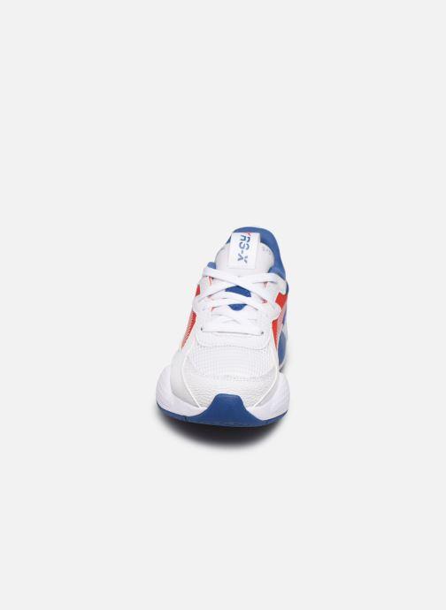 Baskets Puma PS RSX HARD DRIVE.WH-RED Blanc vue portées chaussures
