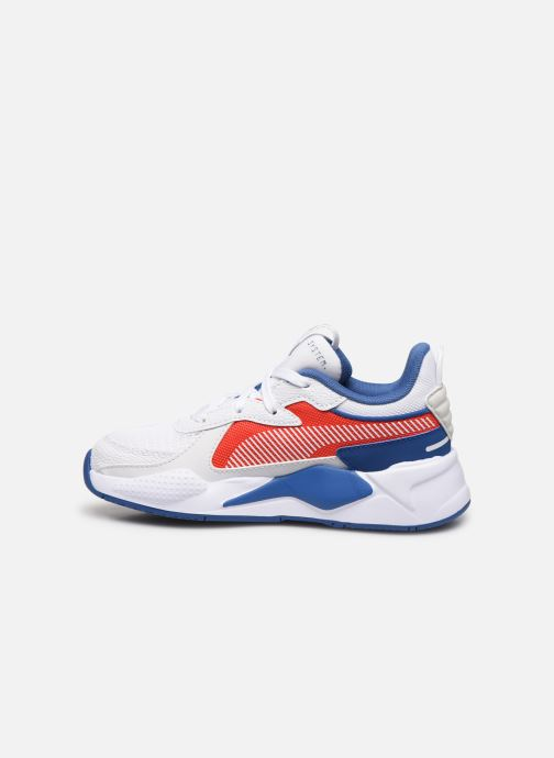 Baskets Puma PS RSX HARD DRIVE.WH-RED Blanc vue face