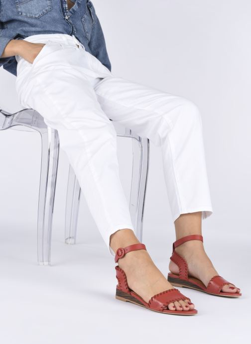 Sandales et nu-pieds Made by SARENZA South Village Sandales Plates #4 Rouge vue bas / vue portée sac