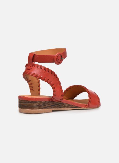 Sandales et nu-pieds Made by SARENZA South Village Sandales Plates #4 Rouge vue face