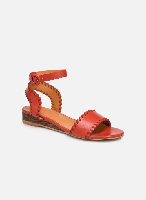 Sandales et nu-pieds Made by SARENZA South Village Sandales Plates #4 Rouge vue droite