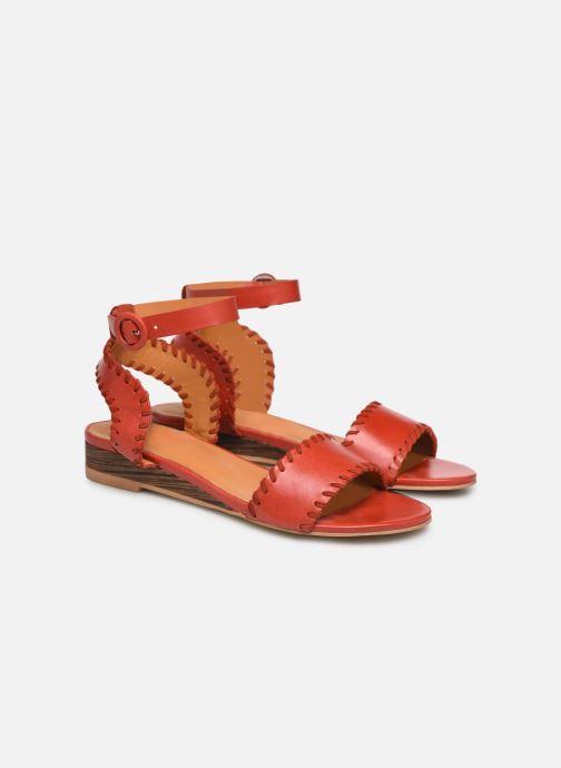 Sandales et nu-pieds Made by SARENZA South Village Sandales Plates #4 Rouge vue derrière