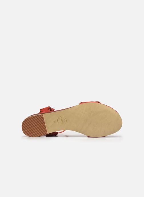 Sandales et nu-pieds Made by SARENZA South Village Sandales Plates #4 Rouge vue haut