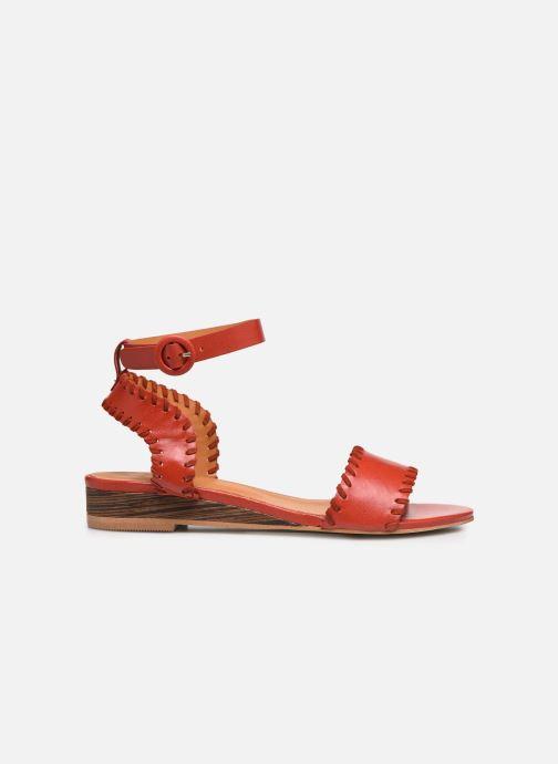 Sandales et nu-pieds Made by SARENZA South Village Sandales Plates #4 Rouge vue détail/paire