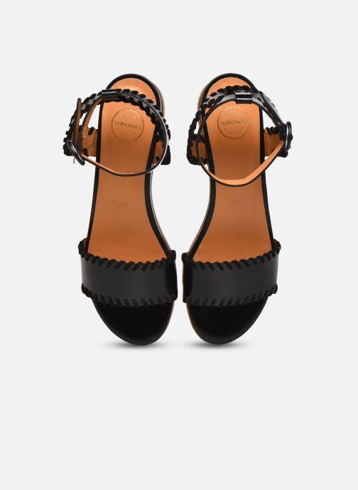 Sandales et nu-pieds Made by SARENZA South Village Sandales Plates #4 Noir vue portées chaussures