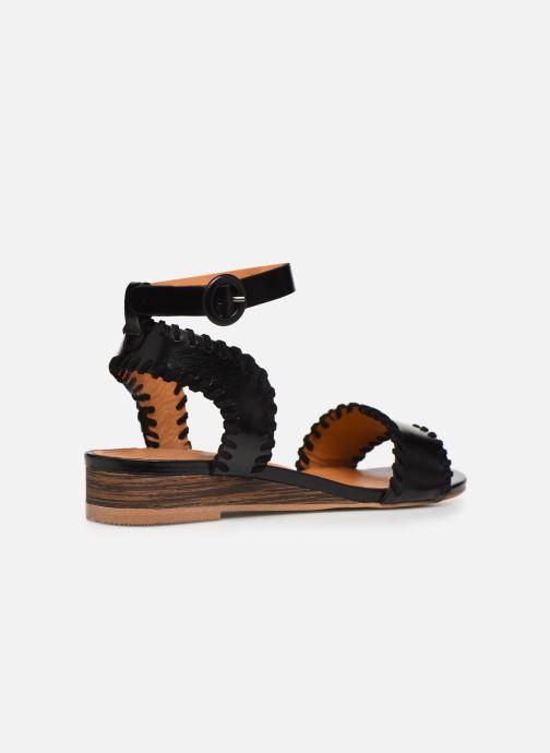 Sandales et nu-pieds Made by SARENZA South Village Sandales Plates #4 Noir vue face