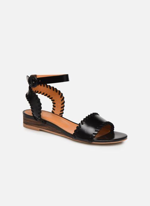 Sandales et nu-pieds Made by SARENZA South Village Sandales Plates #4 Noir vue droite