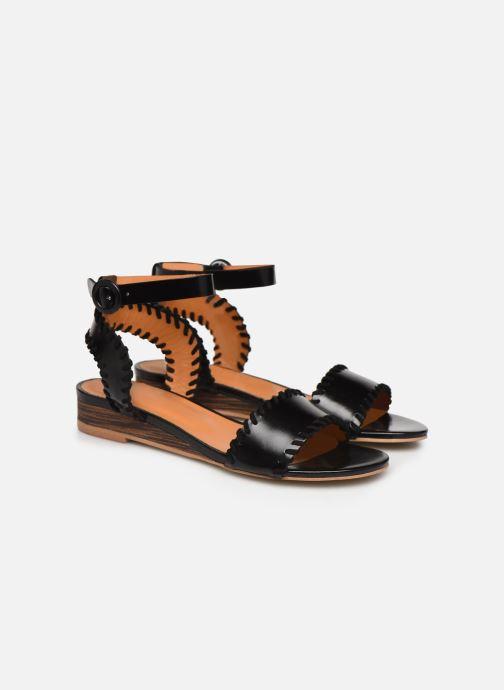 Sandales et nu-pieds Made by SARENZA South Village Sandales Plates #4 Noir vue derrière