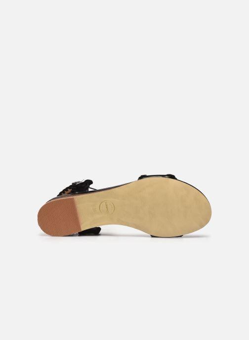 Sandales et nu-pieds Made by SARENZA South Village Sandales Plates #4 Noir vue haut