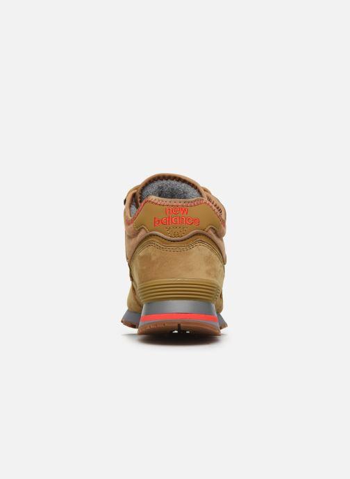 Sneaker New Balance MH574 D braun ansicht von rechts