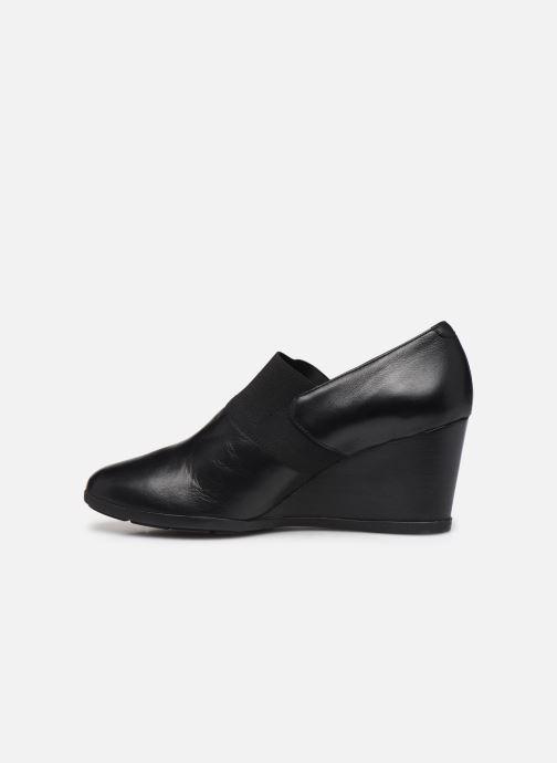 Bottines et boots Geox D Inspiration Wedge D745ZA Noir vue face
