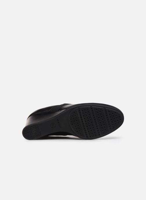 Bottines et boots Geox D Inspiration Wedge D745ZA Noir vue haut