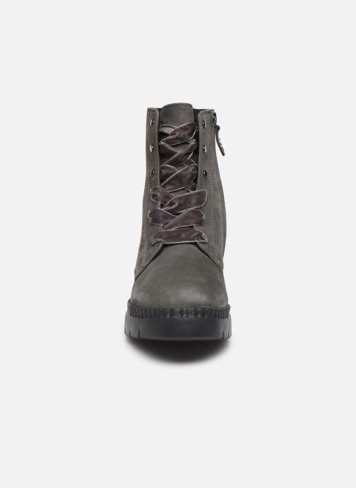 Bottines et boots Geox D Emsley E D747BE Gris vue portées chaussures