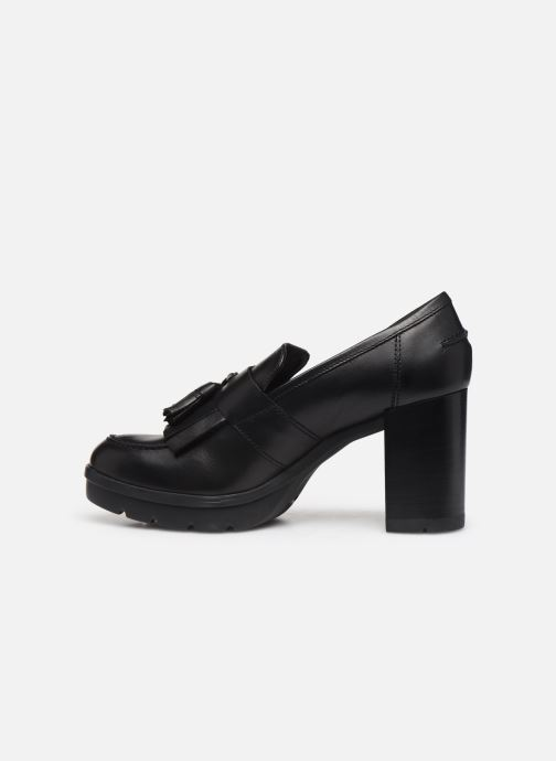 Loafers Geox D Abrienne D D747ED Black front view