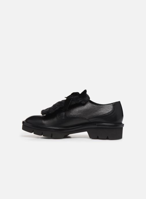 Zapatos con cordones Geox D Quinlynn Plus A D747FA Negro vista de frente