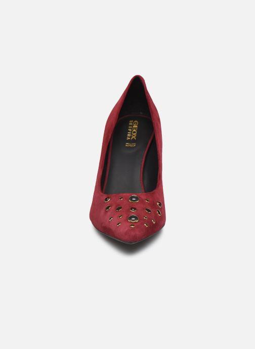 Zapatos de tacón Geox D Faviola A D748UA Vino vista del modelo