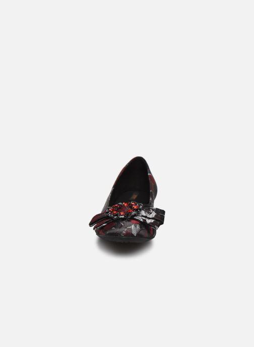 Ballerines Geox D Wistrey A D844GA Rouge vue portées chaussures