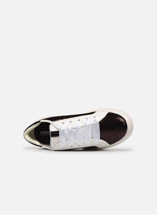 Sneaker Geox D Nhenbus E D848DE weinrot ansicht von links