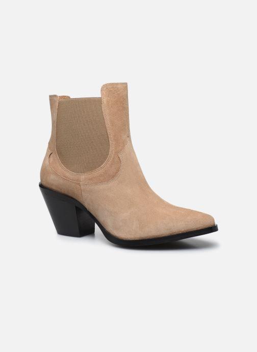 Botines  Made by SARENZA Summer Folk Boots #1 Beige vista lateral derecha