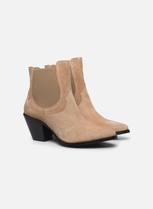 Botines  Made by SARENZA Summer Folk Boots #1 Beige vistra trasera