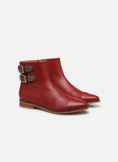Botines  Made by SARENZA Summer Folk Boots #2 Rojo vistra trasera